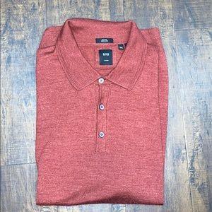 Hugo Boss silk wool long sleeved polo